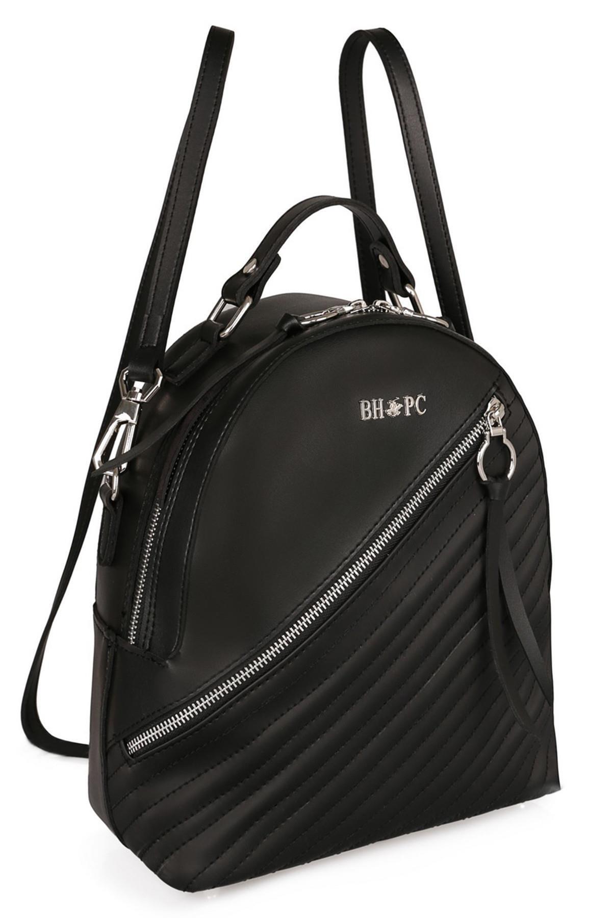 Beverly Hills Polo Club Kadın Kalıplı Sırt Çantası Siyah