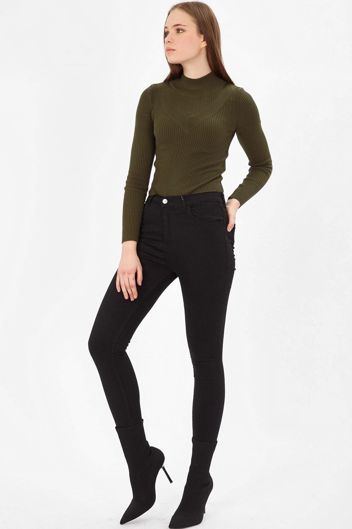 Arma Life Kadın Siyah Yüksek Bel Likralı Kot Pantolon 2