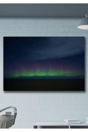 Hediyeler Kapında Kuzey Işıkları Kanvas Duvar Tablo 90x130