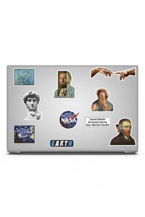 TUGİBU Art Sanat Temalı Laptop Notebook Tablet Sticker Seti 10 Parça