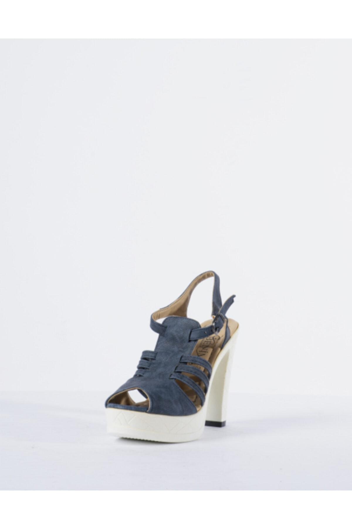 Vision Kadın Mavi Topuklu Ayakkabı 2