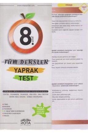RTY Rota Yayınları 8. Sınıf Tüm Dersler Yaprak Test