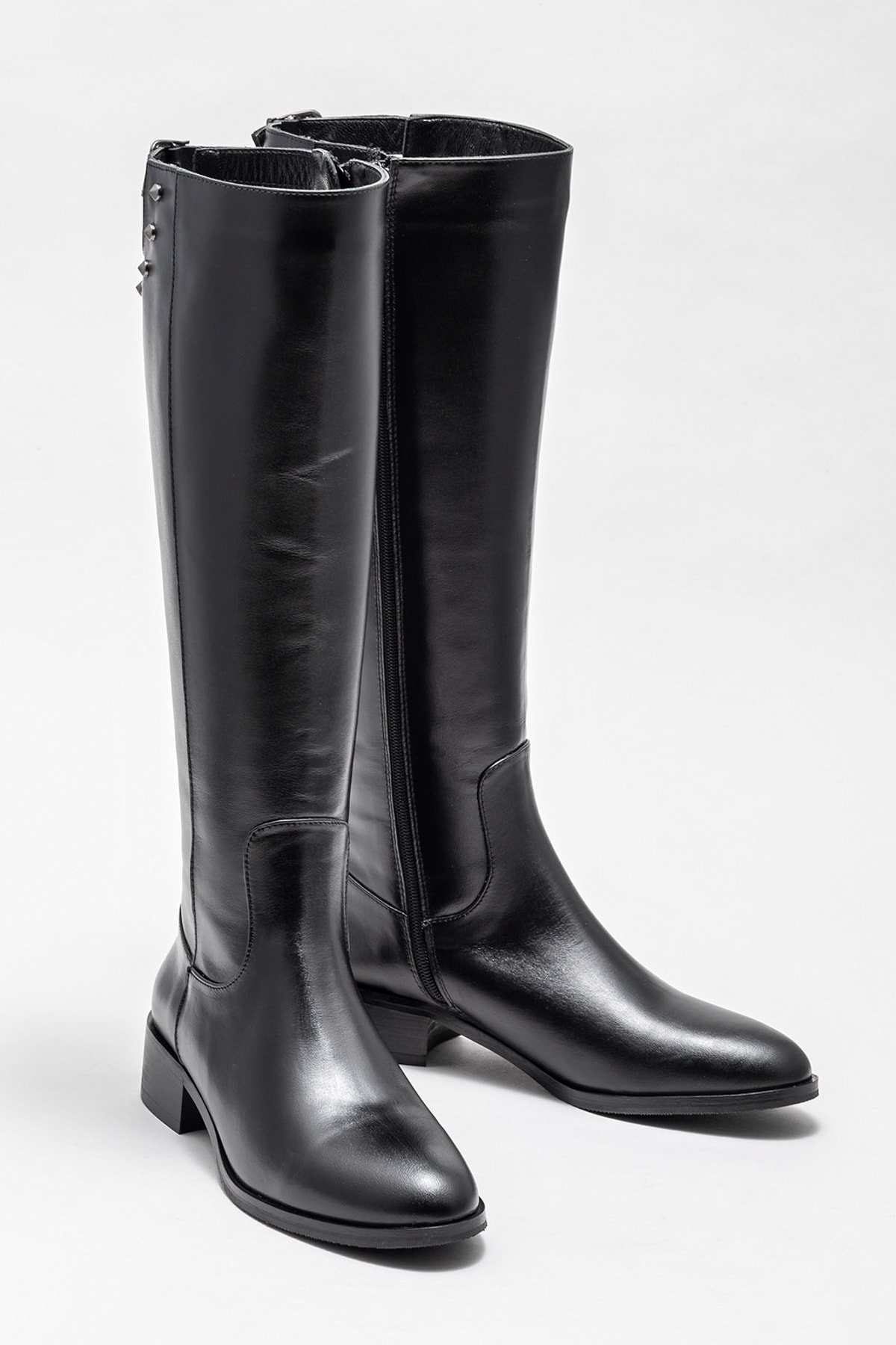 Elle Shoes Kadın Branca Sıyah Çizme 20K007 2