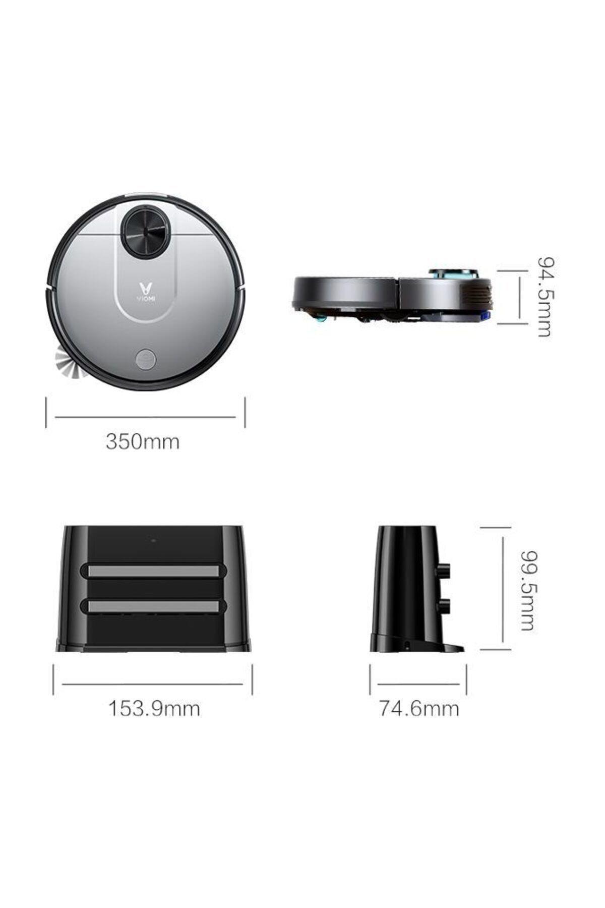 Xiaomi Vıomı V2 Vacuum Cleaner Lazer Sensör Akıllı Robot Süpürge 2