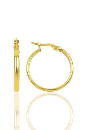 Söğütlü Silver Gümüş 24 Mm Altın Rengi Halka Küpe