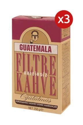 Mehmet Efendi 3 Adet Guatemala Kafeinsiz Filtre Kahve 250gr