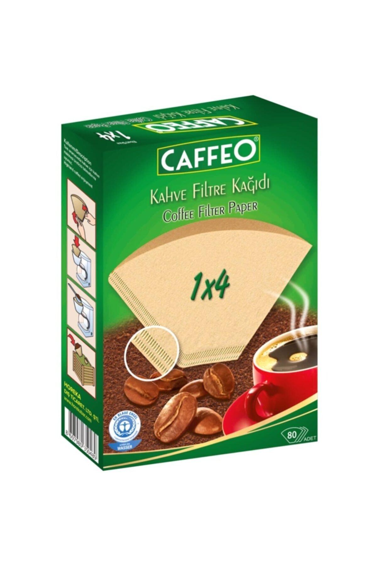 Caffeo 1x4 / 80'li Kahve Filtre Kağıdı 1