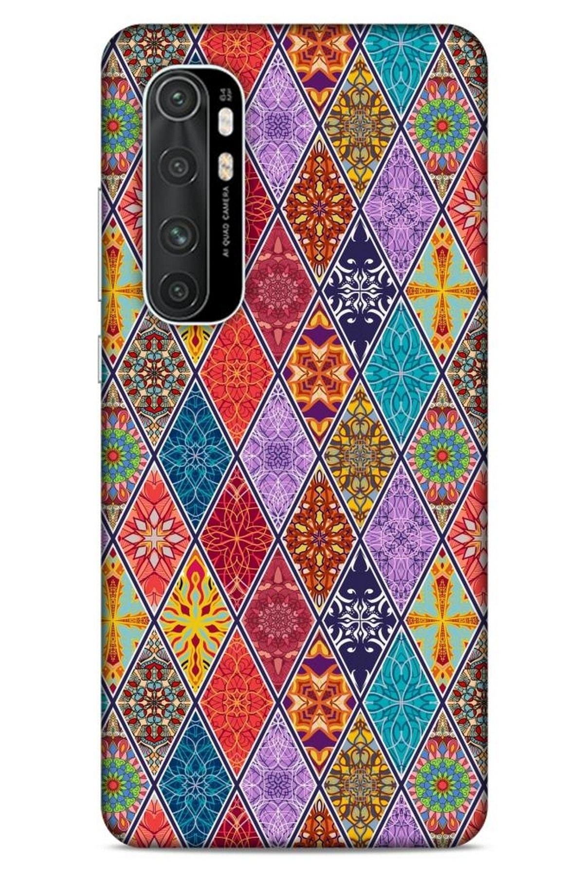 Lopard Ethnic Culture Xiaomi Mi Note 10 Lite Silikon Kapak Desenli Kılıf 1