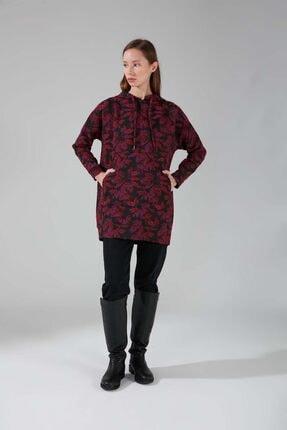 Mizalle Kadın Mor Jakarlı Sweatshirt