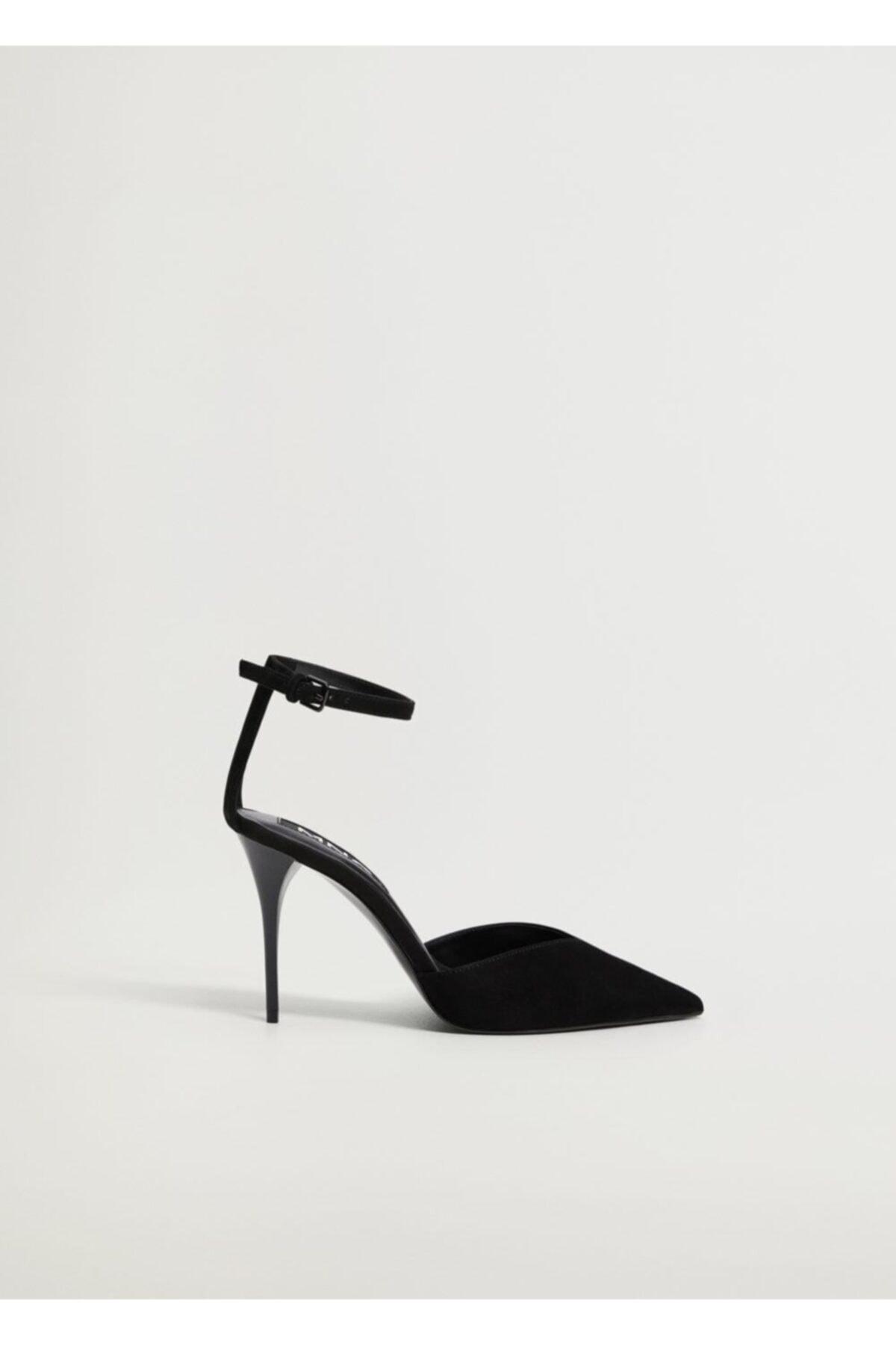 MANGO Woman Kadın Siyah Topuklu Deri Ayakkabı 1