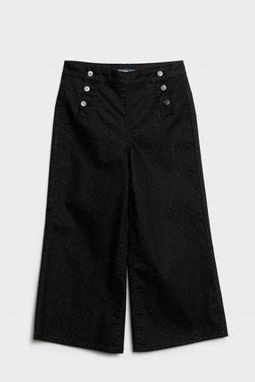 Yargıcı Kadın Siyah Düğme Detaylı Denim Pantolon