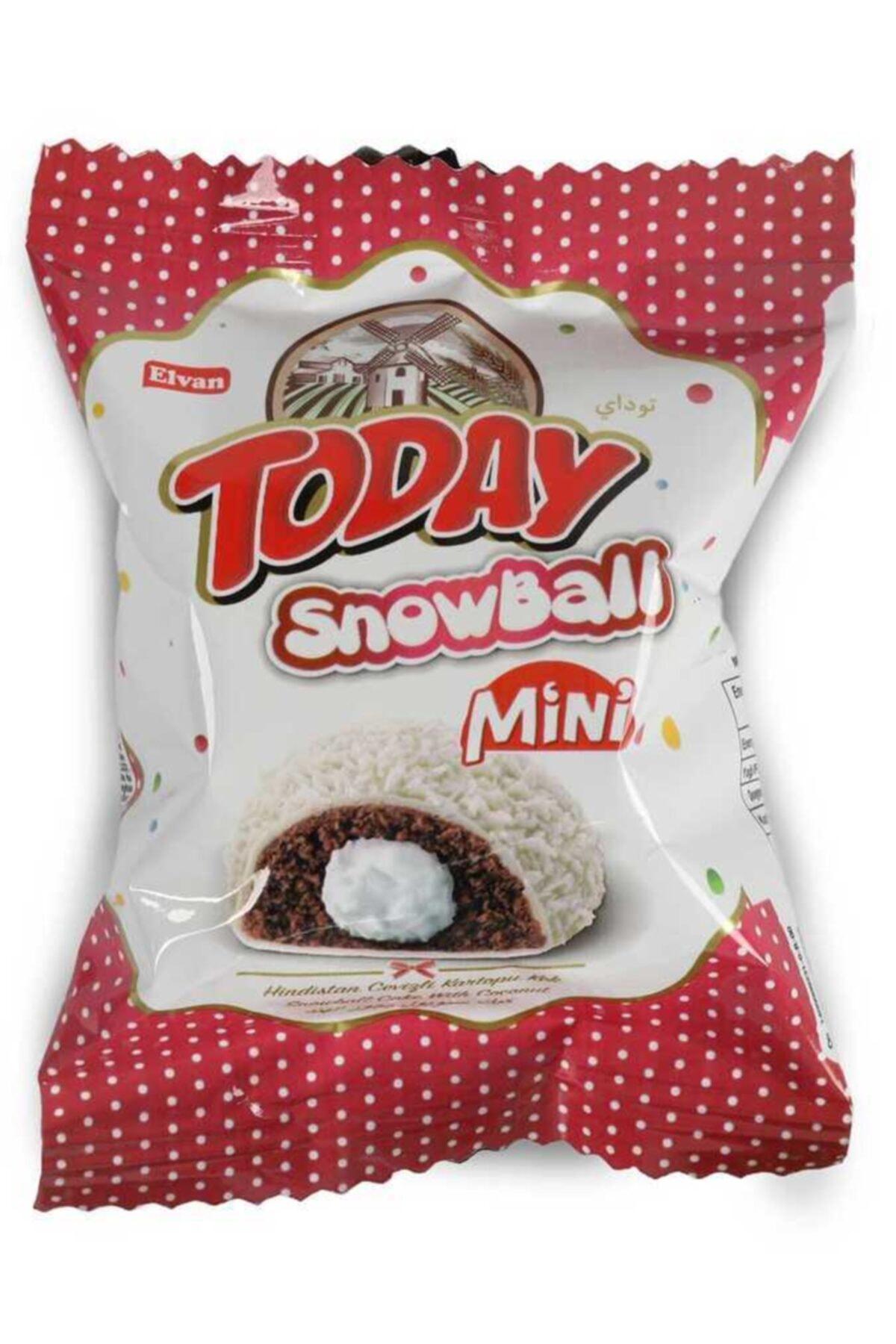 Elvan Today Snowball Mini Hindistan Cevizli Kek 25 Gr. 24 Adet (1 Kutu) 1