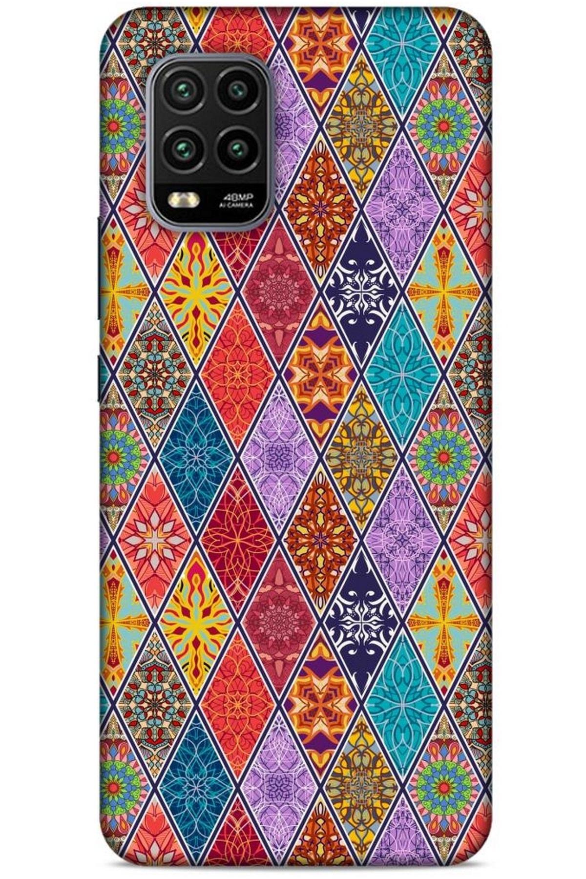 Lopard Ethnic Culture (4) Xiaomi Mi 10 Lite Kılıf Silikon Kapak Desenli 1