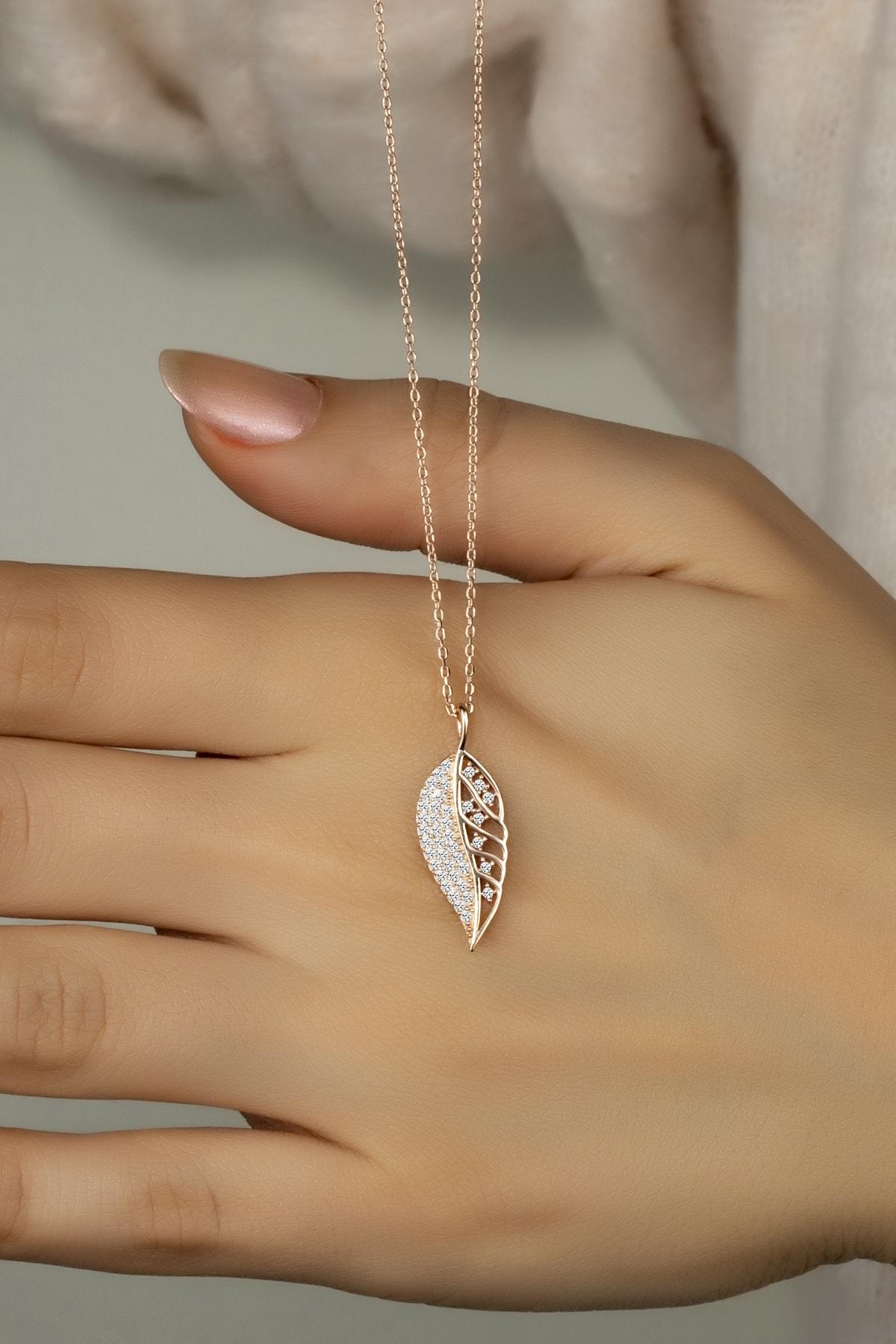 Else Silver 925 Ayar Gümüş Yaprak Kolye 1