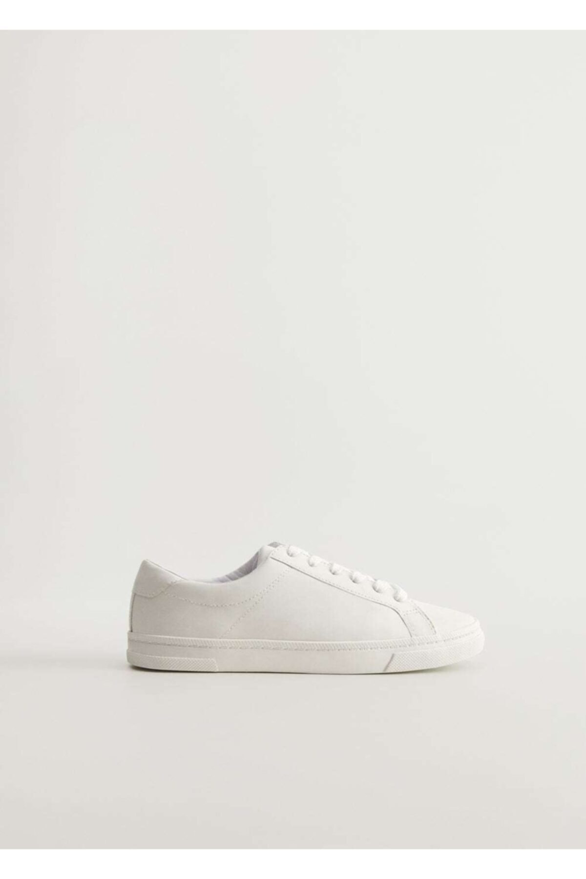 MANGO Woman Kadın Beyaz Bağcıklı Basic Spor Ayakkabı 77090550 1