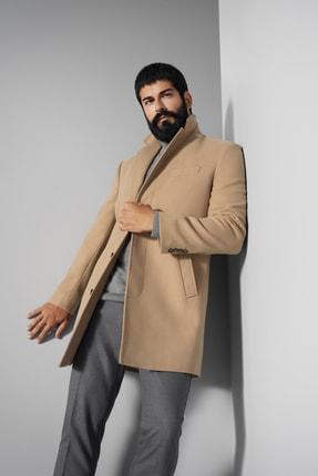 ALTINYILDIZ CLASSICS Erkek Camel Standart Fit Klasik Kışlık Palto