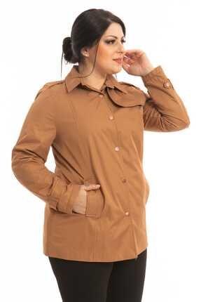 Hanezza Kadın Kahverengi Ceket Tarzı Trençkot
