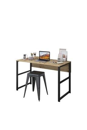 Rani Mobilya Rani C6 Çalışma Ofis Bilgisayar Masası Metal Ayaklı Modern Tasarım Açık Ceviz M1