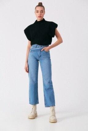 Robin Kadın Mavi Kuşak Detaylı Jean Pantolon