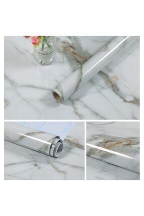 Kyrotech Kendinden Yapışkanlı Folyo Mermer Desenli Beyaz Mermer 500cm X 60cm