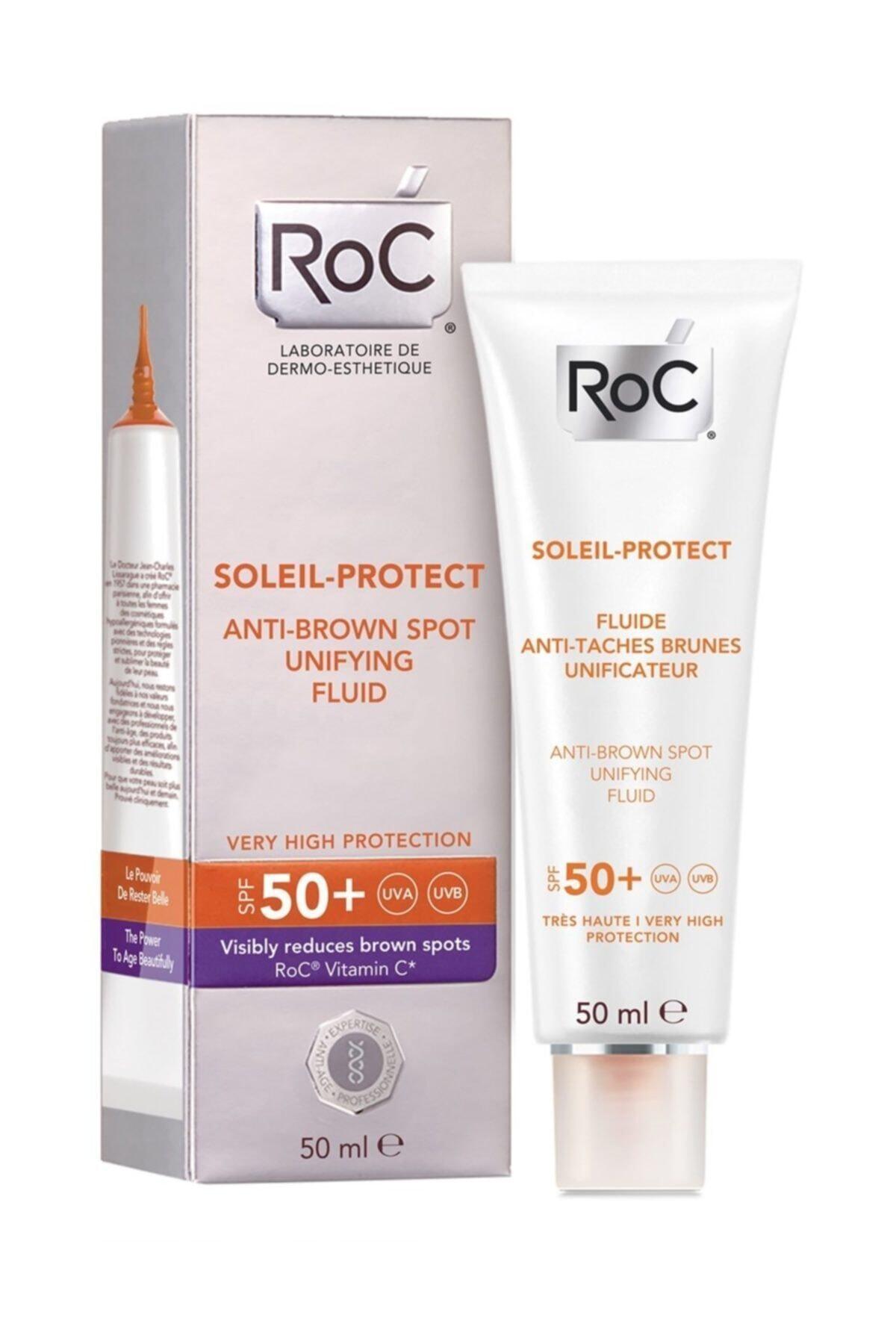 Roc Leke Karşıtı Ve Güneş Koruyucu Yüz Kremi - Soleil Protect Spf 50 50 Ml 3574661173573 1