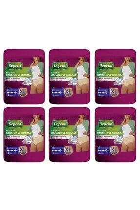Depend Xl Kadın Emici Külot 9 X 6 Paket (54 ADET) Yeni