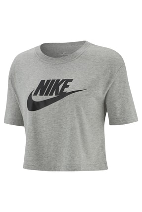 Nike Kadın Spor T-Shirt - W NSW TEE ESSNTL CRP ICN FTR - BV6175-063