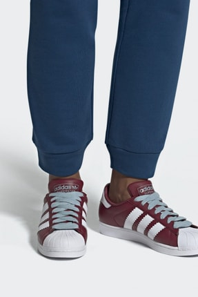 adidas Unisex Bordo Originals Spor Ayakkabı - Superstar - BD7416
