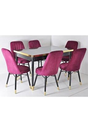 Kaktüs Avm Açılır Masa Sandalye Takımı 6 Kişilik Yemek Masası Salon Masası Masa Takımı Ahşap Masa