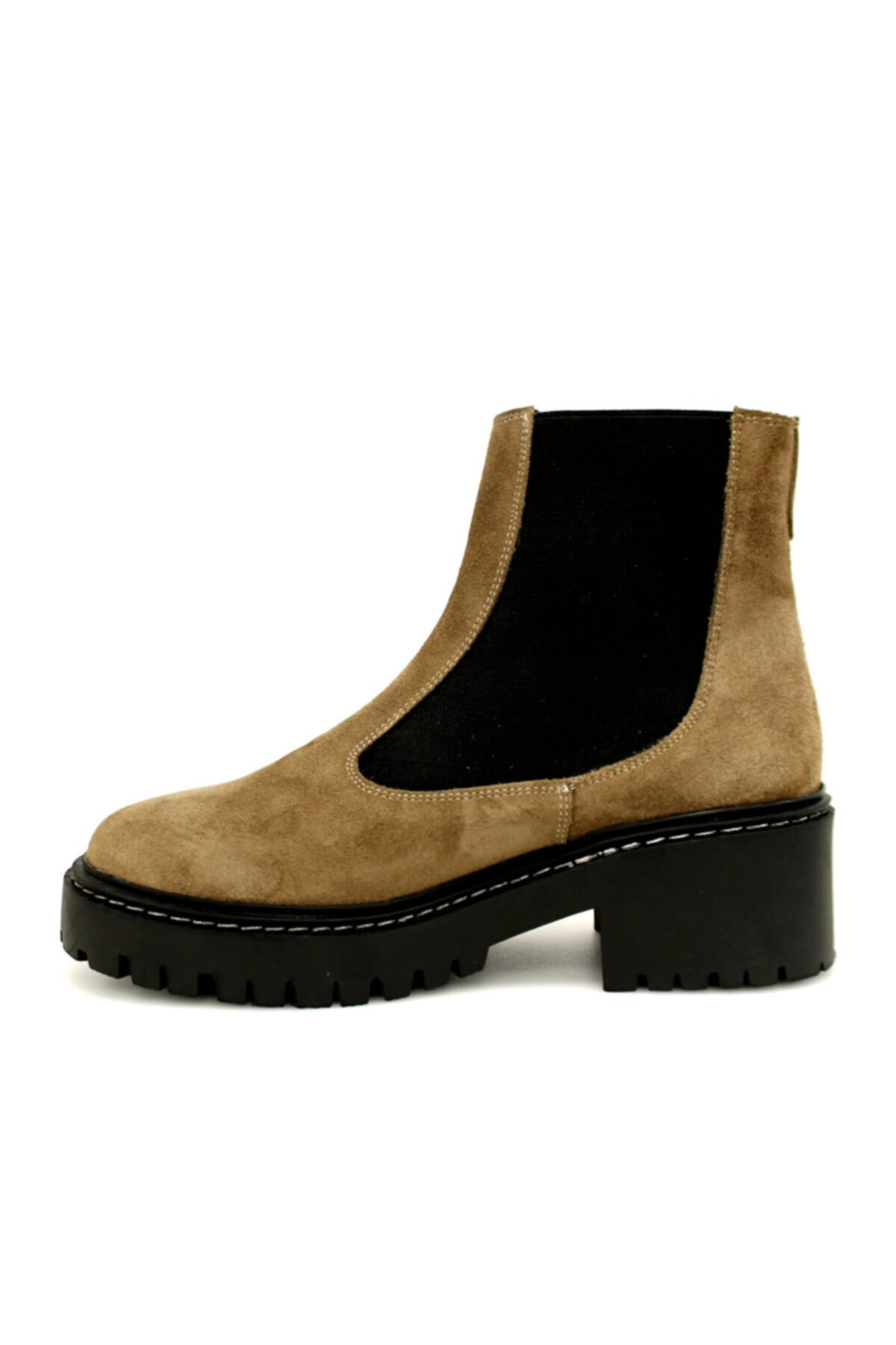 Beta Shoes Kadın Hakiki Deri Bot Süet Vizon 2