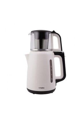 Karaca Cookplus Yeni 1501 Enerji Tasarruflu Kettle Çay Makinesi Krem