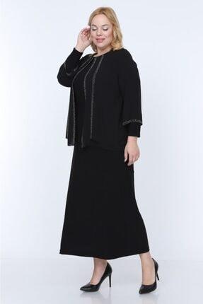Sevista Kadın Taş Işlemeli Şifon Abiye Elbise