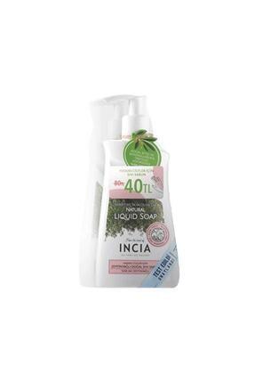 Incia Incıa Hassas Ciltler Için Zeytinyağlı Sıvı Sabun 2x250 ml
