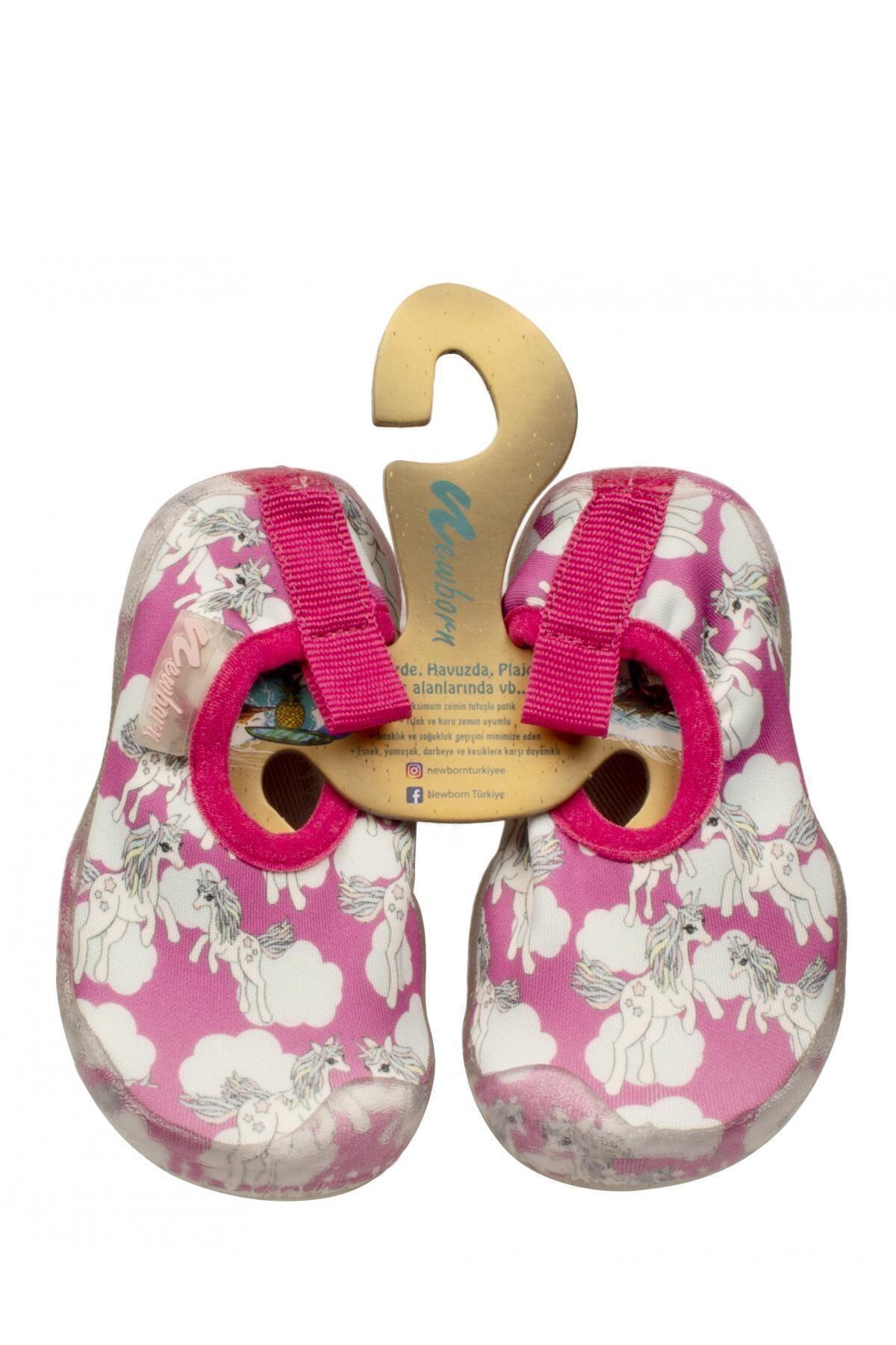 Newborn Kız Çocuk Pembe Deniz Ayakkabısı 1