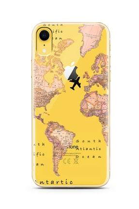 Spoyi Transparan Harita Tasarım Süper Şeffaf Silikon Iphone Xr Telefon Kılıfı