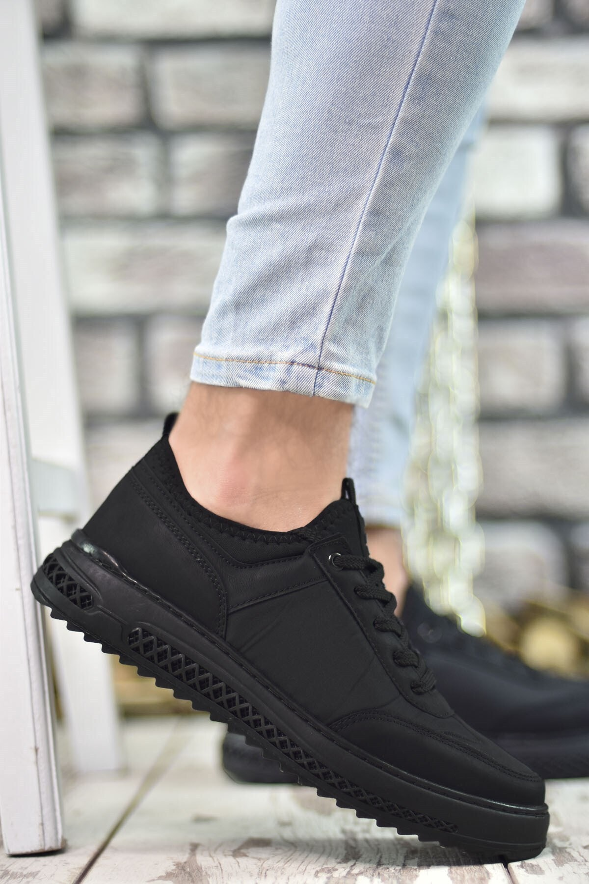 Riccon Siyah Siyah Erkek Sneaker Rcng12504 1
