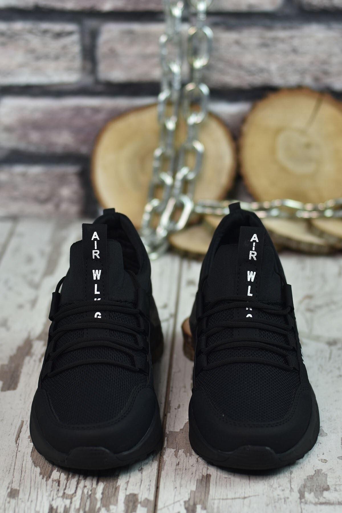 Riccon Siyah Siyah Unisex Sneaker 0012072 2