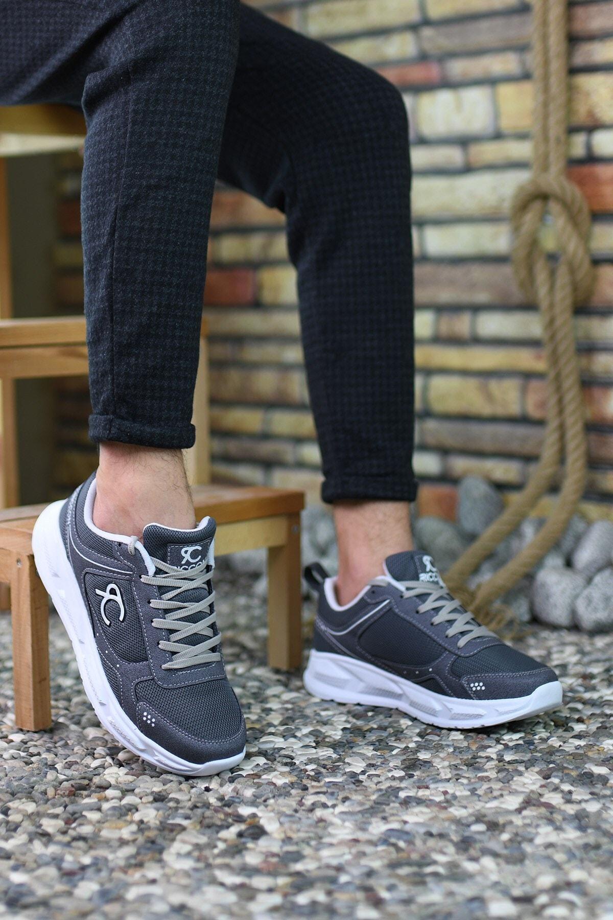 Riccon Füme Beyaz Erkek Sneaker 0012S06 2