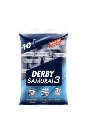 Derby Samurai 3 Tıraş Bıçağı 10 Lu Poşet