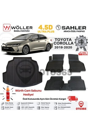 Sahler Toyota Corolla Paspas Bagaj Havuzu Wöller 2019 2021 4.5d Havuzlu Würth Cam Sabunu Hediye