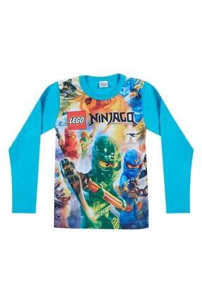 Pattaya Kids Erkek Çocuk Mavi Ninjago Baskılı Sweatshirt