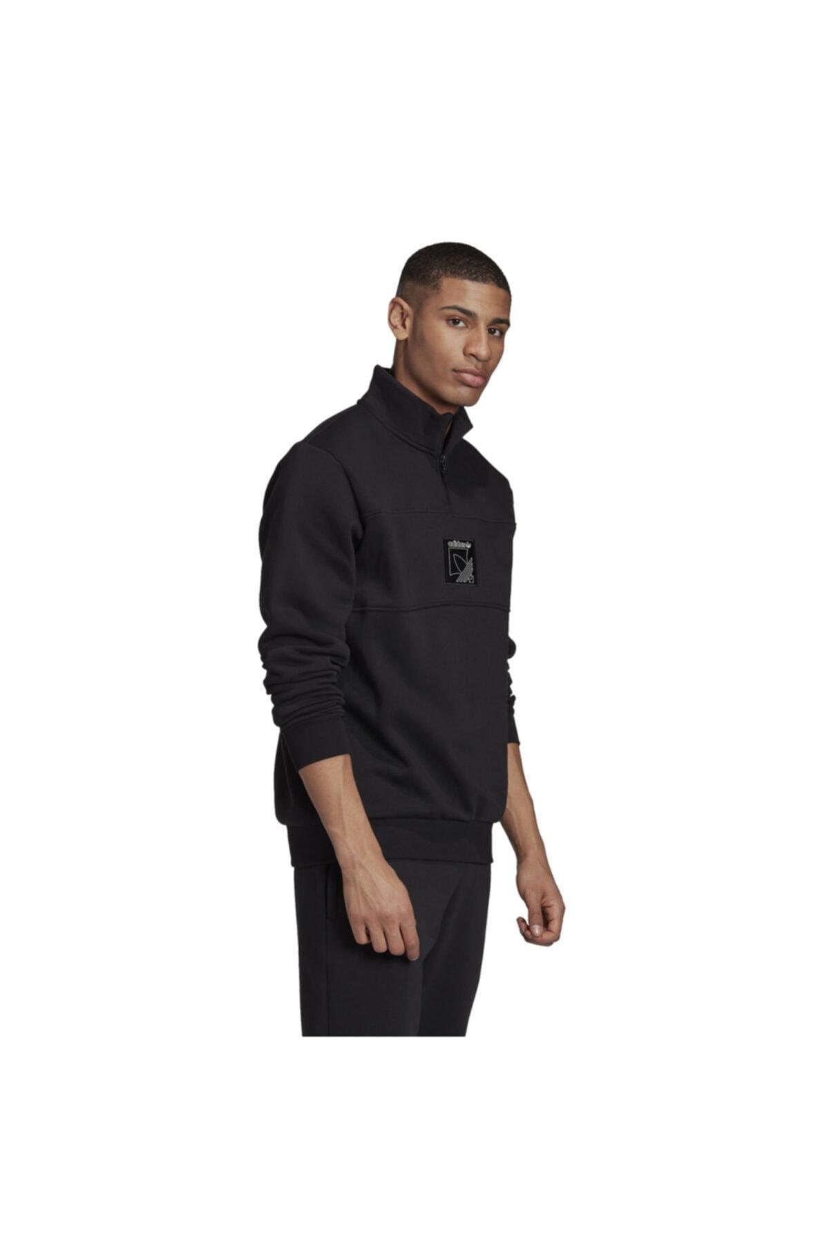 adidas Erkek Siyah Spor Sweatshirt 2