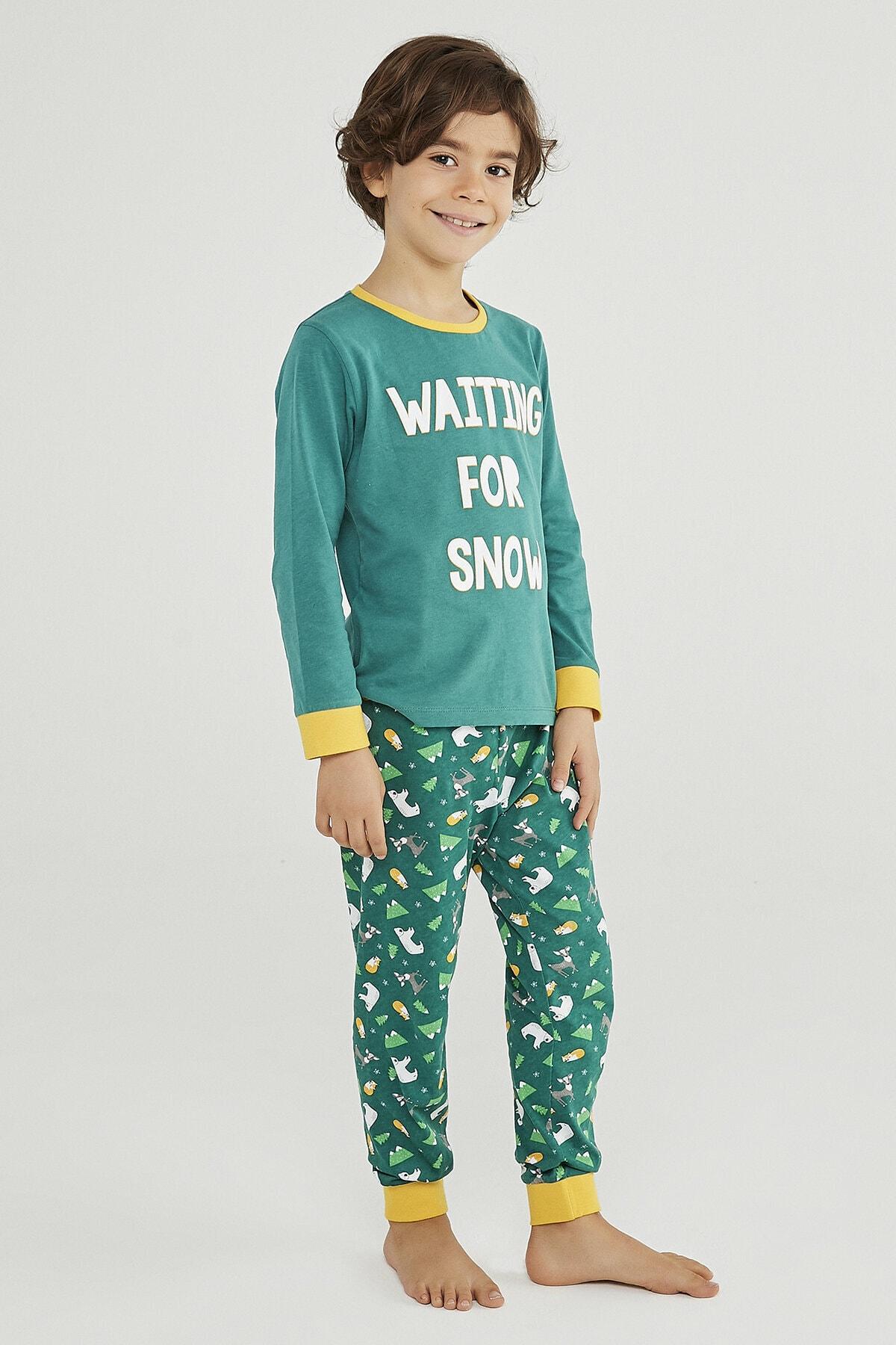 Penti Erkek Çocuk Wınter Story 2Li Pijama Takımı 1