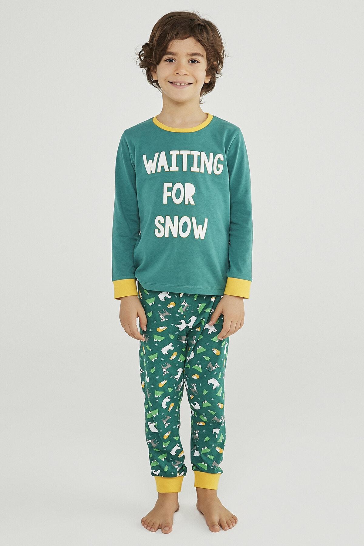 Penti Erkek Çocuk Wınter Story 2Li Pijama Takımı 2