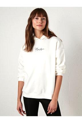 LC Waikiki Kadın Beyaz Sweatshirt