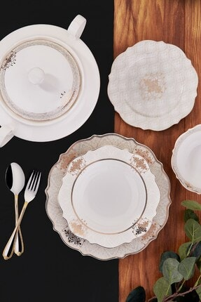 KORKMAZ Eliza Collection 60 Parça Yuvarlak Yemek Takımı