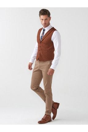 Mcr Erkek Bej Slim Fit Pamuklu Pantolon