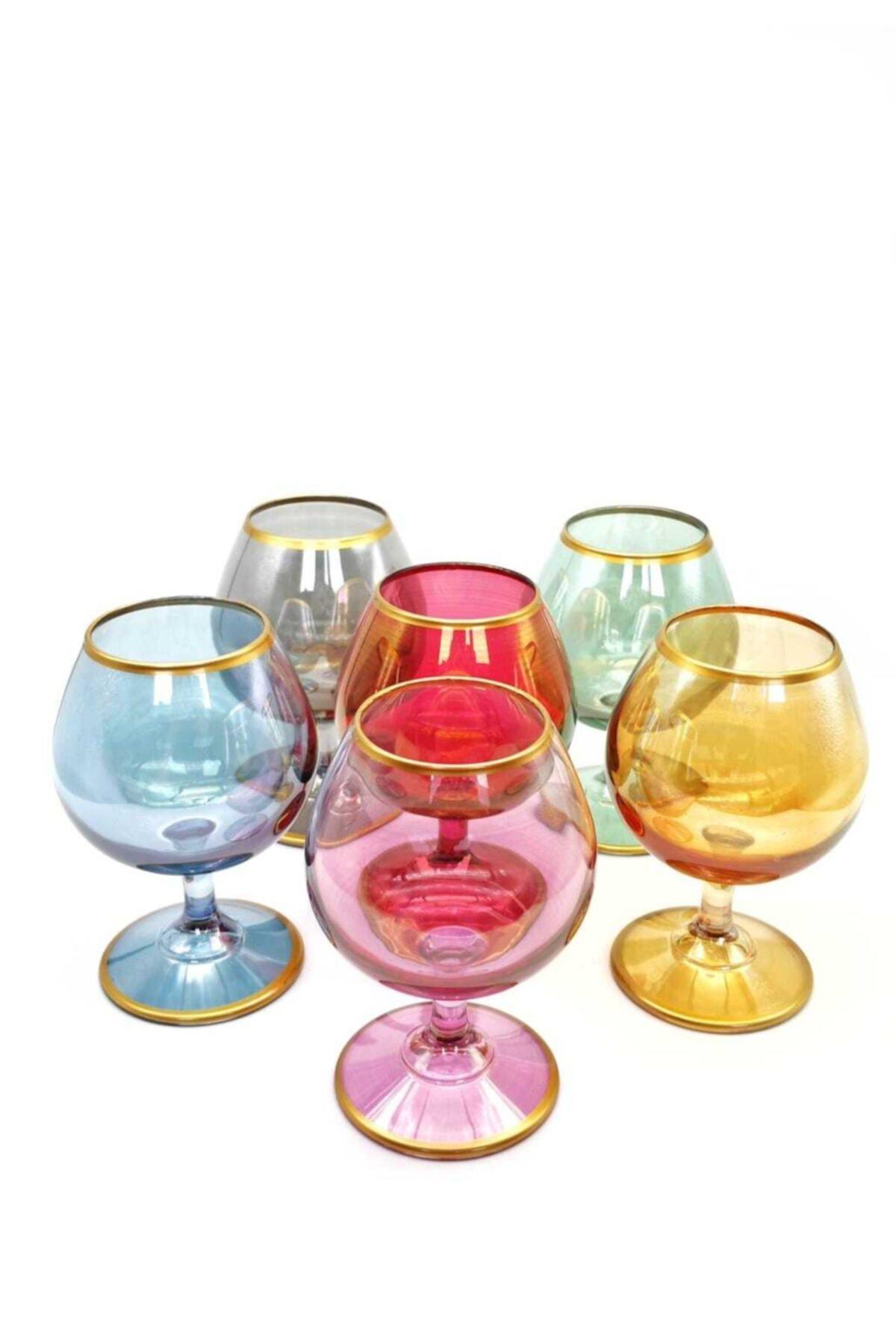 ÖzcamKristal 6'lı Renkli Kahve Yanı Su Bardağı 1