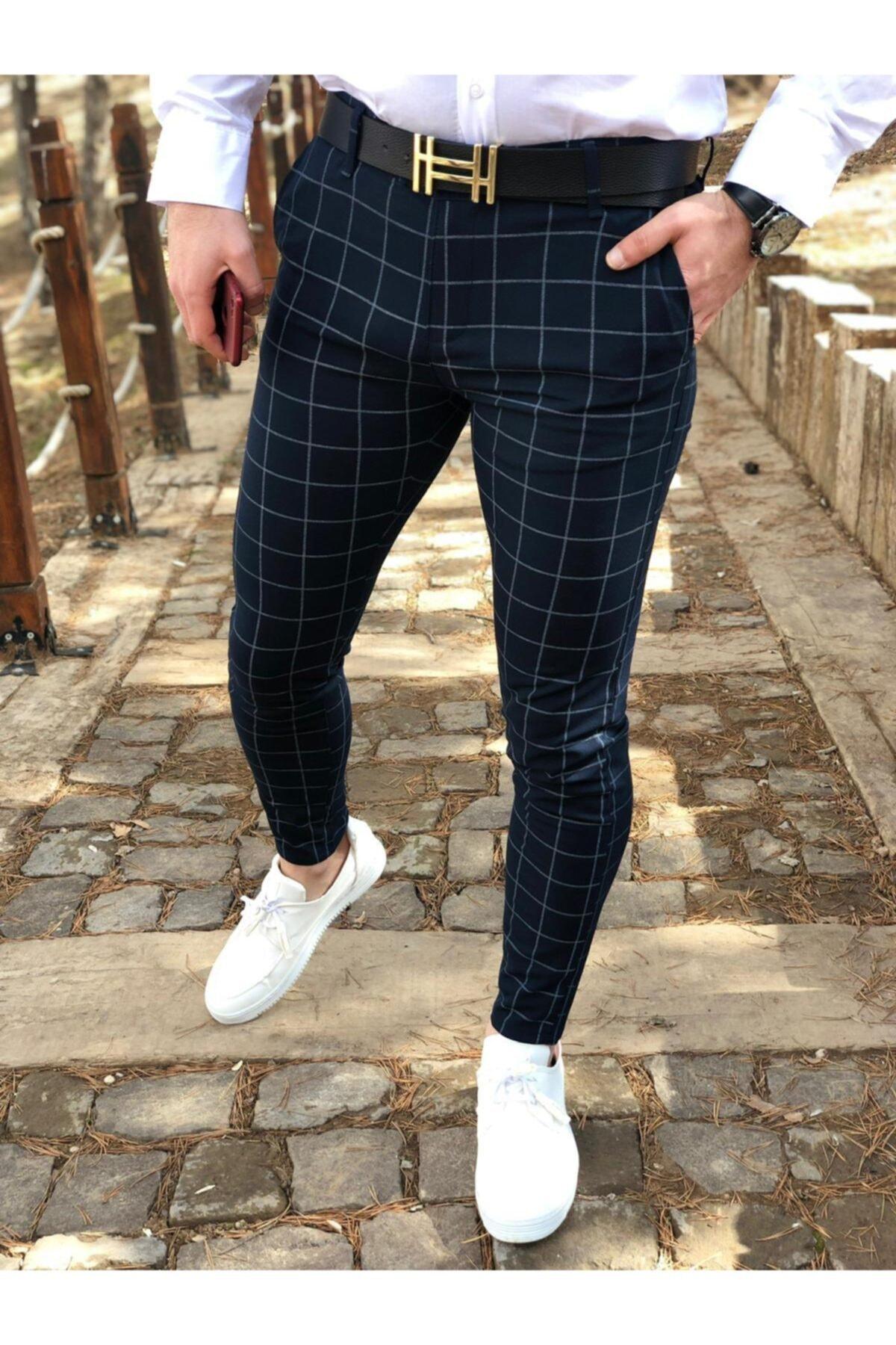 ukdwear Erkek Ekose Kumaş Pantolon 1