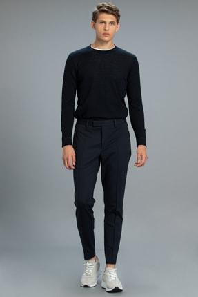 Lufian Erkek Lacivert Melon Smart Chino Pantolon Slim Fit Pantolon
